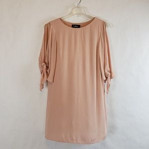Lulu's | Cold Shoulder Dusty Pink Shift Dress Sz S